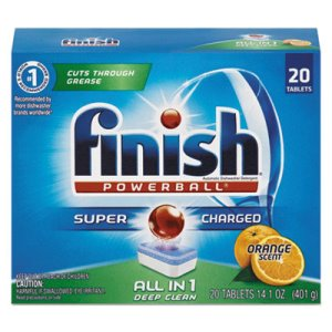 Finish Powerball Dishwasher Tabs, Orange Scent, 20/Box, 8 Boxes (RAC77039)