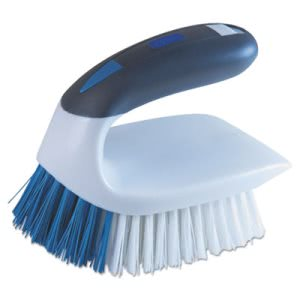 "Lysol Brand 2-in-1 Iron Handle Brush, 2"" Bristles, 3"" Handle, White (QCK59202SC)"