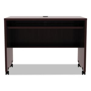Alera Valencia Series Mobile Workstation Desk, Mahogany (ALEVA204224MY)