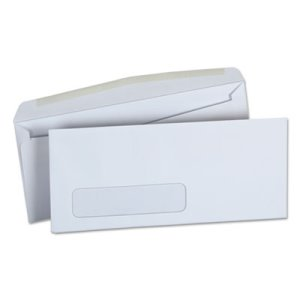 Universal Window Business Envelope, Side, #10, White, 500/Box (UNV36321)