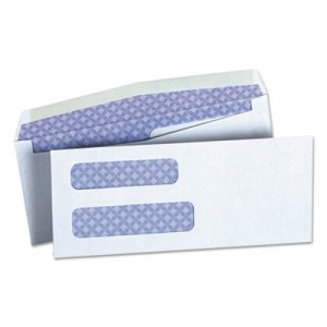 Universal Double Window Business Envelope, #8 5/8, White, 500/Box (UNV36300)