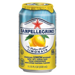 San Pellegrino Sparkling Fruit Beverages, Lemon, 11.15-oz, 12 Cans (NLE041508433471)