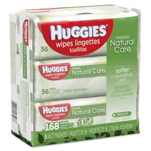 Huggies Natural Care Baby Wipes, Unscented, 3 Packs (KCC43403PK)