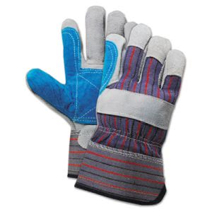 Boardwalk Cow Split Leather Double Palm Gloves, Large, 1 Dozen (BWK00034)