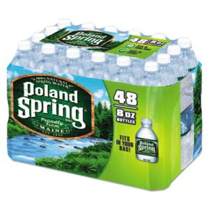 Poland Spring Natural Spring Water, 8-oz, 96 Bottles (NLE1098091BDL)