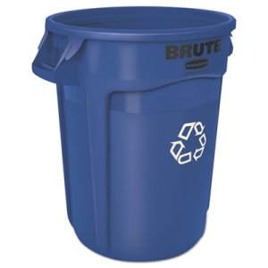 Rubbermaid 2632-73 Brute 32 Gallon Recycling Container, Blue (RCP 2632-73 BLU)