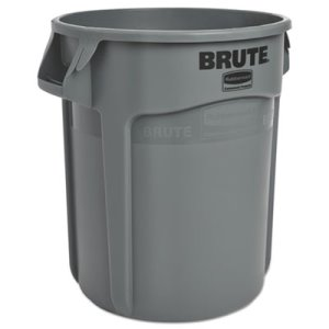 Rubbermaid 2620 Brute 20 Gallon Vented Trash Can, Gray (RCP262000GY)