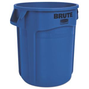Rubbermaid 2620 Brute 20 Gallon Vented Trash Can, Blue (RCP2620BLU)