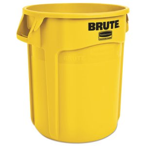 Rubbermaid 2620 Brute 20 Gallon Vented Trash Can, Yellow (RCP2620YEL)