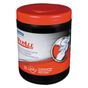 Wypall 58310 Waterless Cleaning Wipes, 8 Canisters (KCC58310)