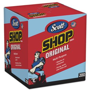 "Scott Shop Towels Pop-Up Box, 10"" x 12"", 8 Boxes, 1600 Towels (KCC75190)"