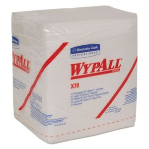 Wypall X70 Quarterfold Heavy-Duty Wipers, 912 Wipers (KCC 41200)