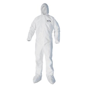 Kleenguard A40 Hood & Boots Protection Apparel, 2XL, 25 Coveralls (KCC 44335)