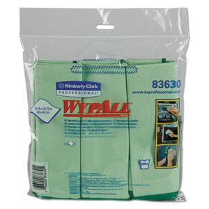 Wypall 83630 Microban Microfiber Cloths, Green, 24 Cloths (KCC83630CT)