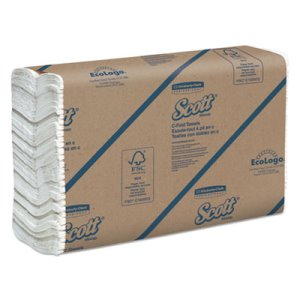 Scott 02920 White C-Fold Paper Towels, 2,400 Towels (KCC02920)