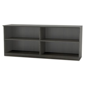 Mayline Medina Series Low Wall Cabinet with Doors, 72w x 20d x 29 1/2h, Gray Steel, Box1 (MLNMVLCCLGS)