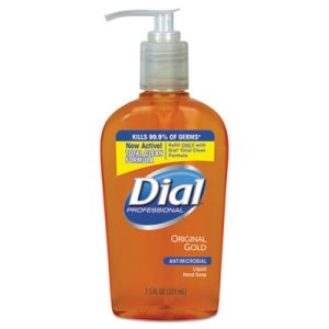 Dial 7.5-oz. Liquid Gold Antimicrobial Hand Soap, 12 Pump Bottles (DIA 84014)