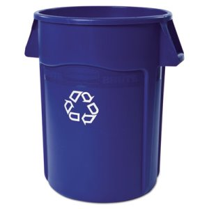 Rubbermaid Brute 44 Gallon Recycling Container, Blue (RCP264307BLU)