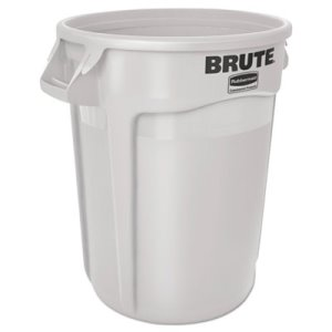 Rubbermaid 2610 Brute 10 Gallon Trash Can, White (RCP 2610 WHI)