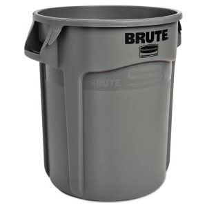 Rubbermaid 2610 Brute 10 Gallon Trash Container, Gray (RCP 2610 GRA)