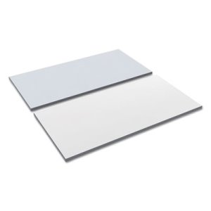 Alera Reversible Laminate Table Top, 48w x 24d, White/Gray (ALETT4824WG)