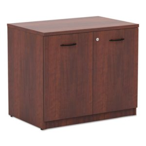 Alera Valencia Series Storage Cabinet, 34w x 22-3/4d x 29-1/2h, Medium Cherry (ALEVA613622MC)