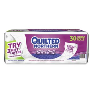 Quilted Northern Ultra Plush 3-Ply Toilet Paper, 30 Rolls (GPC872725)
