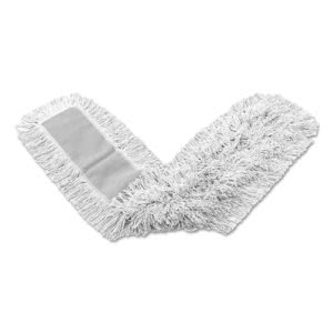 Rubbermaid K157 Kut-A-Way Mop Heads, 48 x 5, Cotton, 12 Mops (RCPK15712WHI)