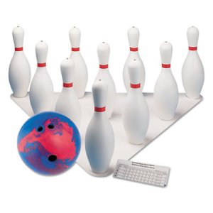 Champion Sports Bowling Set, Plastic/Rubber, 1 Ball/10 Pins per Set (CSIBPSET)