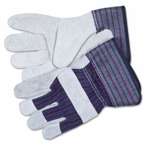 Memphis Split Leather Palm Gloves, Safety Cuff, Gray, 1 Pair (CRW12010XL)