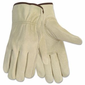 Memphis Economy Leather Driver Gloves, Medium, Cream (CRW3215M)