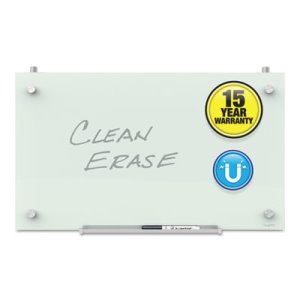 Quartet Infinity Magnetic Glass Dry Erase Cubicle Board, 14 x 24 (QRTPDEC2414)