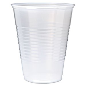 Fabri-Kal Ribbed 12-oz. Cold Drink Cups, Clear, 1000 Cups (FABRK12)