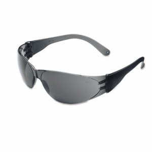 Crews Checklite Scratch-Resistant Safety Glasses, Gray Lens (CRWCL112)