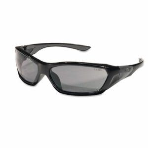 Crews ForceFlex Safety Glasses, Black Frame, Gray Lens (CRWFF122)