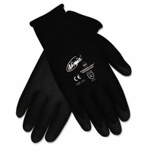 Memphis Ninja HPT PVC coated Nylon Gloves, Small, Black, Pair (CRWN9699SBX)