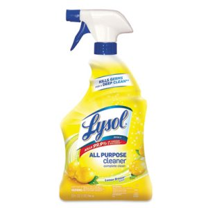Lysol 75352 All-Purpose Cleaner, Lemon, 12 Spray Bottles (RAC75352CT)