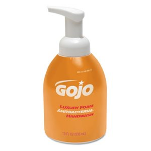 Gojo Luxury Foam Antibacterial Handwash, 4 - 18-oz. Pump Bottles (GOJ 5762-04)