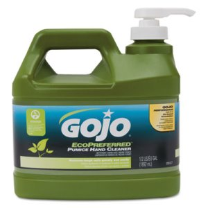 Gojo Pumice Hand Cleaner, 1/2 Gal Pump Bottle, Lime Scent, 4 Bottles (GOJ093704)