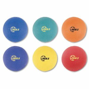 Champion Sports Playground Ball Set, Nylon, Assorted Colors, 6/Set (CSIPGSET)