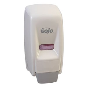 Gojo 800 Series Hand Liquid Soap Dispenser, White, 1 Each (GOJ 9034)