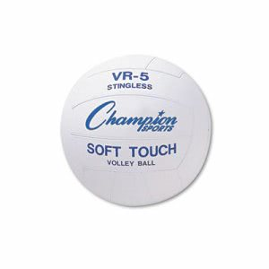 Champion Sports Rubber Sports Ball, For Volleyball, Official Size (CSIVR4)