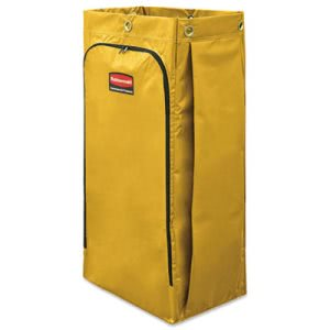 Rubbermaid 1966881 Vinyl Cleaning Cart Bag, 34 gal, Yellow, (RCP1966881)