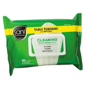 NicePak Table Turner Multi-Surface Cleaning Wipes, 90/Pack, 12 Packs (NICA580FW)