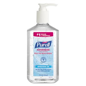 Purell 365912 Advanced Instant Hand Sanitizer Gel, 12 Pump Bottles (GOJ365912CT)
