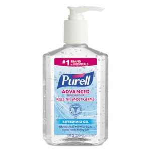Purell Advanced Hand Sanitizer Gel, 8 oz Pump Bottle, Clear, Each (GOJ965212EA)