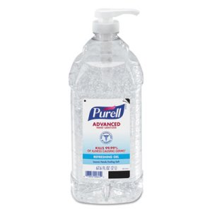 Purell Advanced Instant Hand Sanitizer, 2 Liter, 4 Pump Bottles (GOJ962504CT)