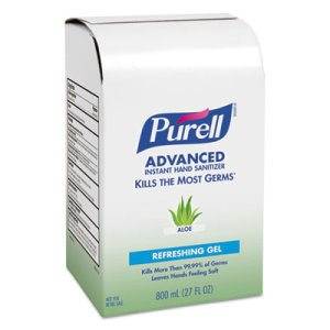 Purell Instant Hand Sanitizer with Aloe, 800 mL, 12 Refills (GOJ9637)