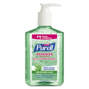 Purell Advanced Hand Sanitizer Gel with Aloe, Floral, 12 Bottles (GOJ967412CT)