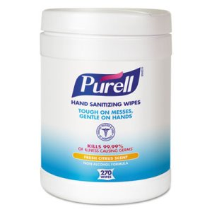 Purell Hand Sanitizer Wipes Canister, 6 Canisters (GOJ911306CT)